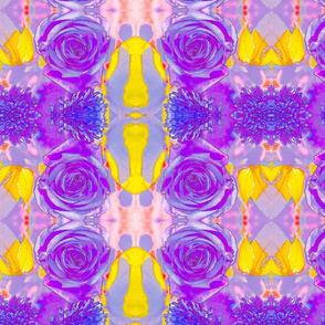 Purple Rose #1 Art Nouveau Kaleidoscope