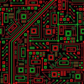 Merry Robot Circuits (Dark)