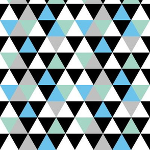 Triangle Blue Green