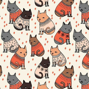 Sweater Cats - (Smaller Version) by Andrea Lauren