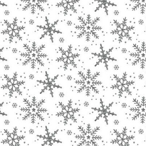 Snowflake Shimmer in Silver / Half Scale