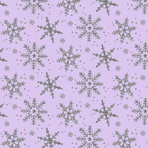 Snowflake Shimmer in Lilac, Half Scale