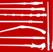 Iconic Wands Red/White