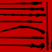 Iconic Wands Red/Black