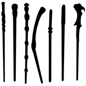 Verticle Wands White/Black