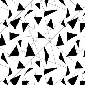 Black and white triangles and lines