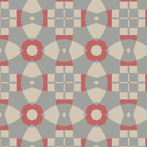 Abstract Geometric in Grey and Pink