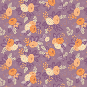 Floral all over purple