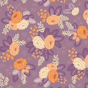 Floral all over purple big