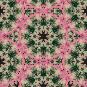 Marbleized Kaleidoscope Star, Pink and Green