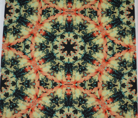 Marbleized Kaleidoscope Star, Peach and Lemon