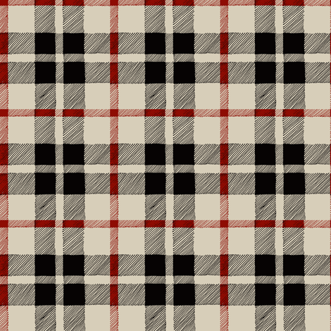 fall plaid in red/black/tan