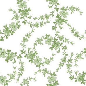 Lilla Wildflowers in basil green