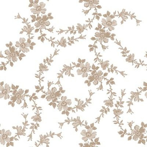 Lilla Wildflowers in belgian linen