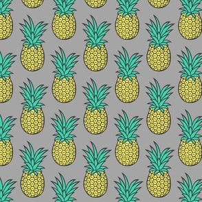 Pineapple on Grey