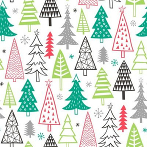 Christmas Forest Trees