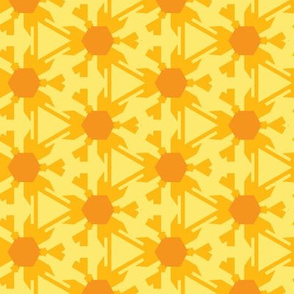 Stylized Yellow Daisies