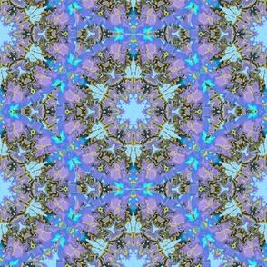 Marbelized Kaleidoscope Star, Lavender