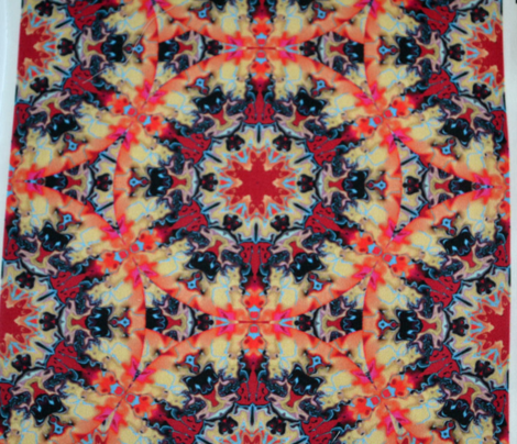 Marbleized Kaleidoscope Star, Fiery
