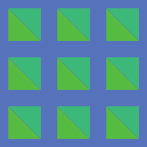 Danita's Green Squares on Blue