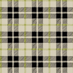 fall plaid olive/black/tan