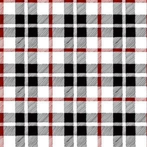 fall plaid red/black/white