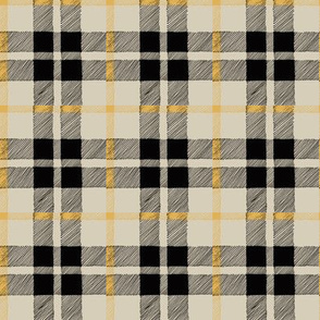 fall plaid black/tan/mustard