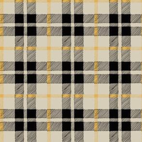 fall plaid black/tan/mustard