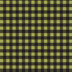 olive/black checks