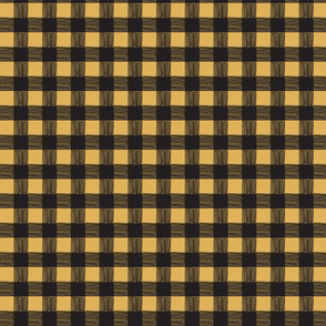 mustard/black checks