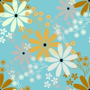 Happy Floral in blue