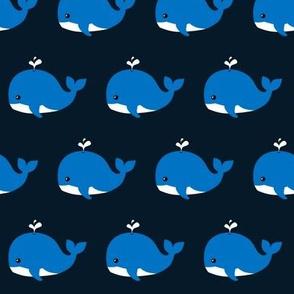 Splashing Whale Dark Blue