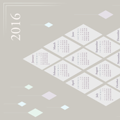 2016 Diamonds Calendar