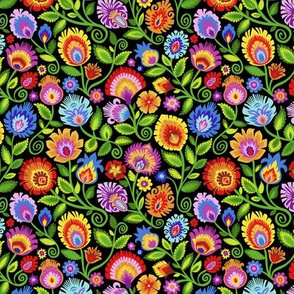 Wildflowers on Black-small