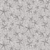 Sparkly stars on smoky gray linen weave by Su_G