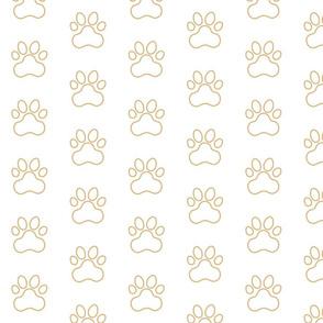 PawPrint - Brown (#E0B67C) Outline on White (#FFFFFF)