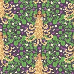Queen octopus purple