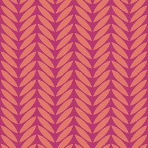 bird leaf pink tangerine