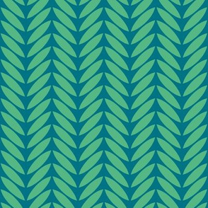 bird leaf teal green