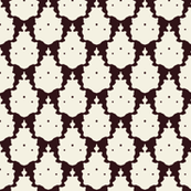 bird damask brown ivory