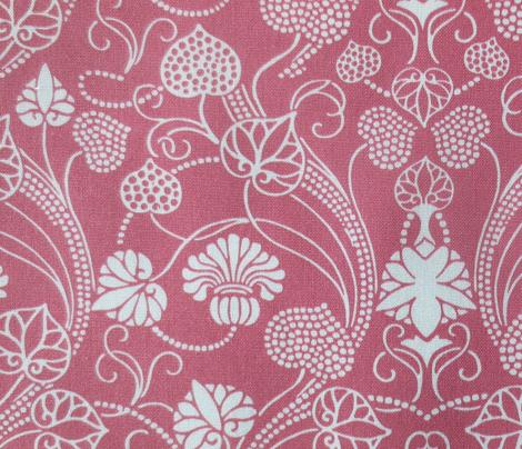 lotus damask cranberry
