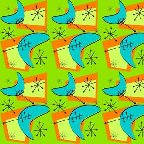 Atomic Era Boomerangs-ed Lime