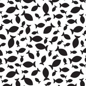 Confetti Fish (Black and White)