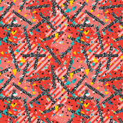 Geometric Modern Memphis Confetti Red