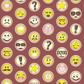 Emoticon Polka Dots on Marsala