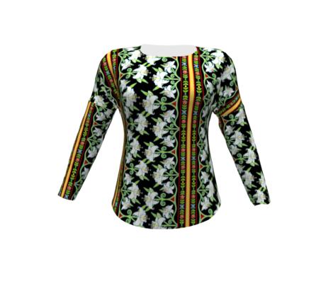Elizabethan Lily Folkloric Stripe