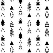 Trees - Black on White Rows