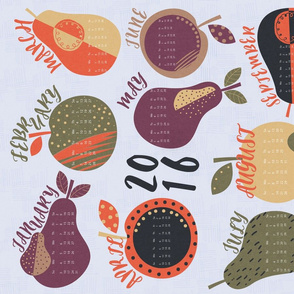 2016 Calendar - Fruit Theme
