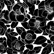 Floral White Ink