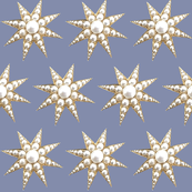 Pearl star baubles